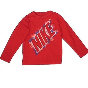 Nike Long Sleeve Red T-Shirt Tee